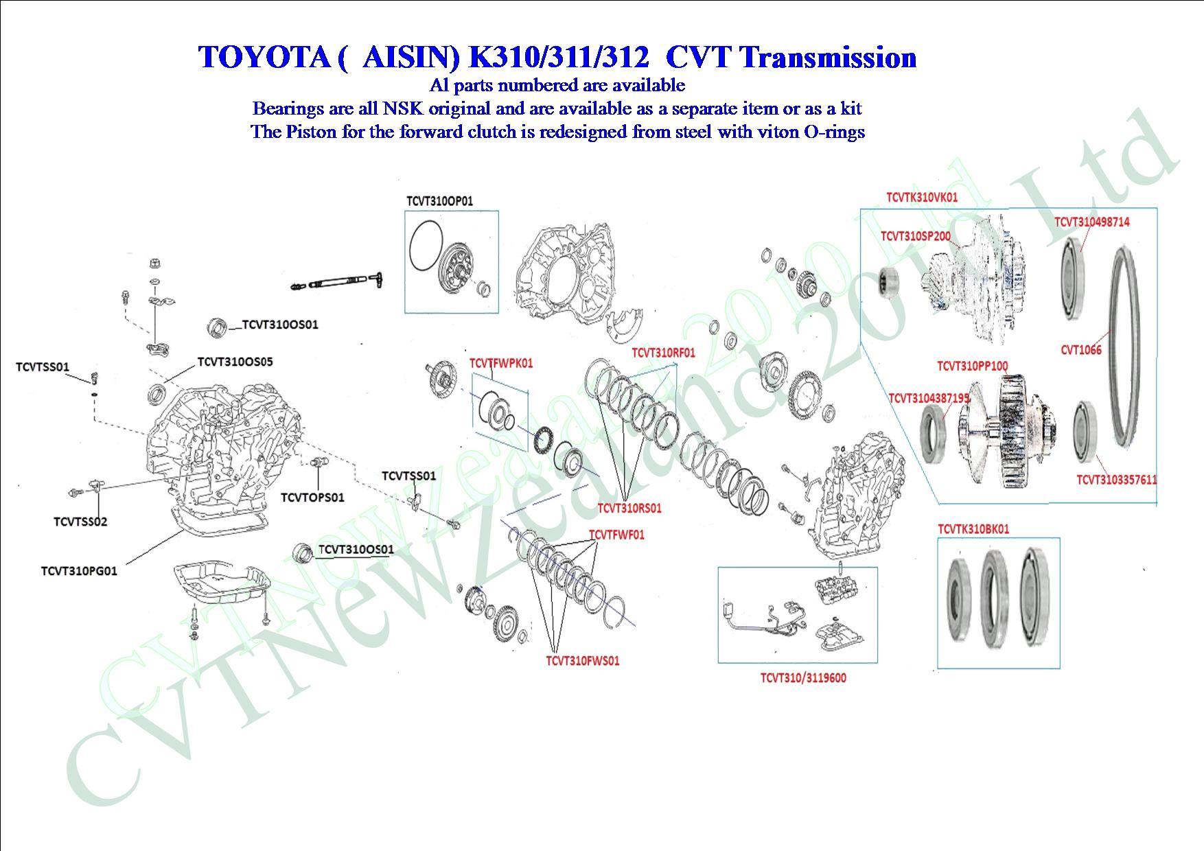 Toyota CVT - K310 CVT Transmission - Page 1 - CVT Parts Limited